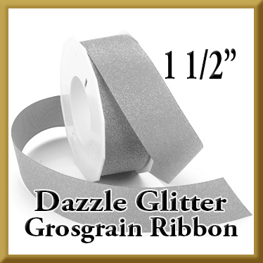 990 1 pt 5 Inch Dazzle Glitter Grosgrain Ribbon Product Image