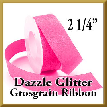 990 2 pt 25 Inch Dazzle Glitter Grosgrain Ribbon Product Image