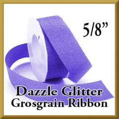 990 5 8 Inch Dazzle Glitter Grosgrain Ribbon Product Image