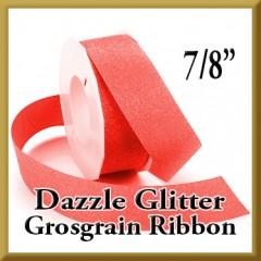 990 7 8 Inch Dazzle Glitter Grosgrain Ribbon Product Image