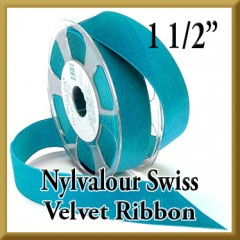 012 Wholesale 1.5 Nylvalour Swiss Velvet Ribbon Product Image