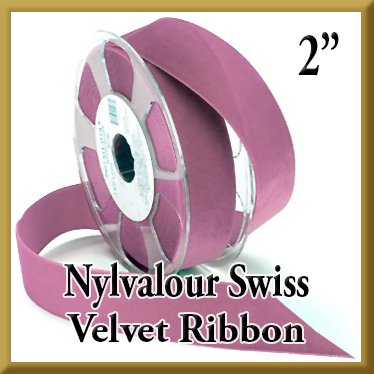 012 Wholesale 2 Inch Nylvalour Swiss Velvet Ribbon Product Image