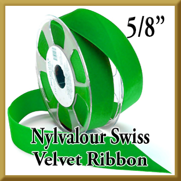 012 Wholesale 5 8 Nylvalour Swiss Velvet Ribbon Product Image