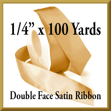 088- 1/4 Inch x 100 yds Double Face Satin Ribbon Product Image