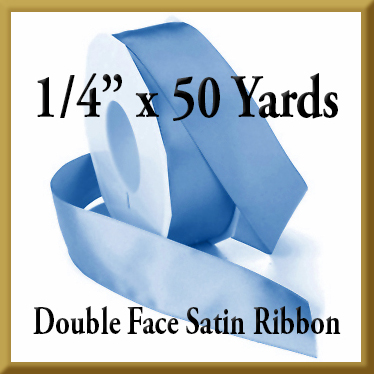088- 1/4 Inch x 50 yds Double Face Satin Ribbon Product Image