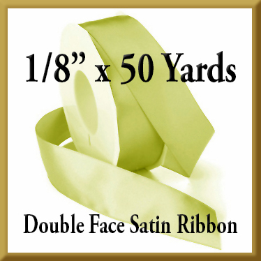 088- 1/8 Inch x 50 yds Double Face Satin Ribbon Product Image
