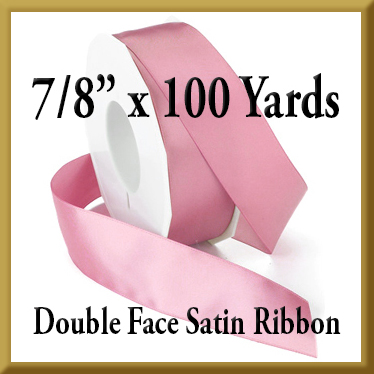 088- 7 8 Inch x 100 yds Double Face Satin Ribbon Product Image