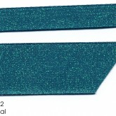 990-342 Teal Dazzle Glitter Grosgrain Ribbon