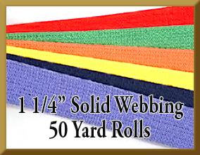 1 1/4 Inch Solid 50 Yard Rolls Webbing Product Image