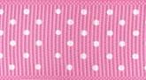 Pink 022 Wholesale Swiss Dots Grosgrain Ribbon