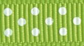 Lime 027 Wholesale Swiss Dots Grosgrain Ribbon