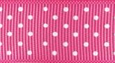 Cerise 606 Wholesale Swiss Dots Grosgrain Ribbon