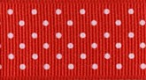 Red 609 Wholesale Swiss Dots Grosgrain Ribbon