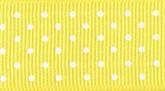 Yellow 615 Wholesale Swiss Dots Grosgrain Ribbon