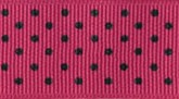 Magenta 616 Wholesale Swiss Dots Grosgrain Ribbon
