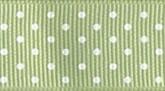 Spring Moss 621 Wholesale Swiss Dots Grosgrain Ribbon