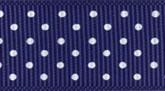 Navy Blue 624 Wholesale Swiss Dots Grosgrain Ribbon
