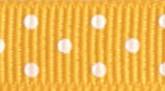Bright Yellow 705 Wholesale Swiss Dot Grosgrain Ribbon