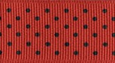 Red/Black Dots 709 Wholesale Swiss Dots Grosgrain Ribbon