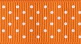 Pumpkin 720 Wholesale Swiss Dots Grosgrain Ribbon