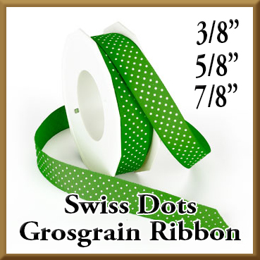 3906 Wholesale Swiss Dots Grosgrain Ribbon Product Image