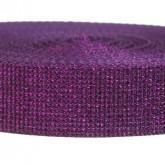 4000M Glitter Purple 1 1/4 Inch Glitter Webbing