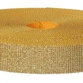 4001M Glitter Gold 1 1/4 Inch Glitter Webbing