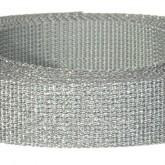 4001M Glitter Silver 1 1/4 Inch Glitter Webbing