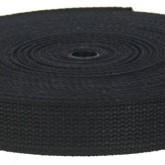 4002M Black Field Weight 100% Cotton Webbing 10 Yard Mini Roll