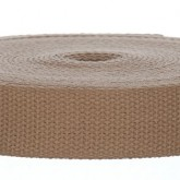 4002M Colorado Khaki 100% Cotton Webbing 10 Yard Mini Roll