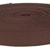 4002M Dark Brown Field Weight 100% Cotton Webbing 10 Yard Mini Roll
