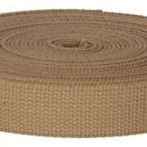 4002M Desert Khaki Field Weight 100% Cotton Webbing 10 Yard Mini Roll