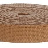 4002M Doe Brown 100% Cotton Webbing 10 Yard Mini Roll