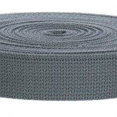 4002M Gray 100% Cotton Webbing 10 Yard Mini Roll