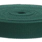 4002M Hunter Green 100% Cotton Webbing 10 Yard Mini Roll