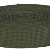 4002M Olive Field Weight 100% Cotton Webbing 10 Yard Mini Roll