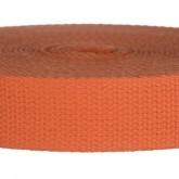 4002M Orange 100% Cotton Webbing 10 Yard Mini Roll