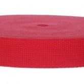 4002M Red 100% Cotton Webbing 10 Yard Mini Roll