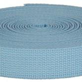 4002M Sky Blue (extra thick) 100 % Cotton Webbing 10 Yard Mini Roll
