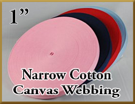 4003 Narrow Cotton Canvas Webbing 1 Inch Product Image