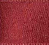 039-018 Burgundy Wired Swiss Double Face Satin Ribbon