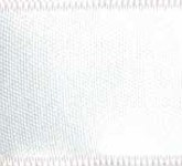 039-601 White Wired Swiss Double Face Satin Ribbon