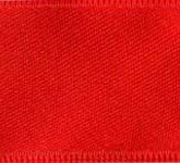 039-609 Red Wired Swiss Double Face Satin Ribbon