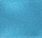 039-612 Turquoise Wired Swiss Double Face Satin Ribbon