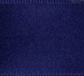 039-624 Navy Blue Wired Swiss Double Face Satin Ribbon