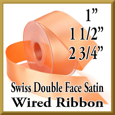 039 Wired Swiss Double Face Satin Ribbon Product Image