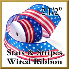2736 Stars and Stripes Wired Ribbon Product Image