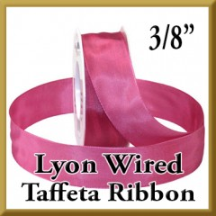 464 Lyon Wired Taffeta Ribbon Product Image 3 8 Inch X 27 YDS