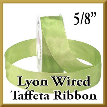 464 Lyon Wired Taffeta Ribbon Product Image 5 8 Inch Width