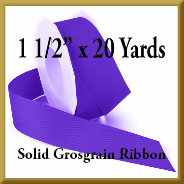 066- 1 pt 5 x 20 yards Solid Grosgrain Ribbon Product Image